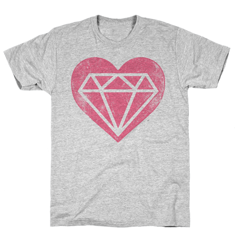 Diamond Heart (Forever) Mens T-Shirt