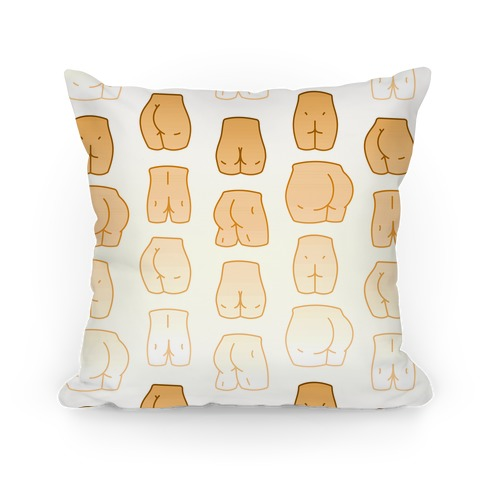 Skin Tone Butt Pattern Pillow