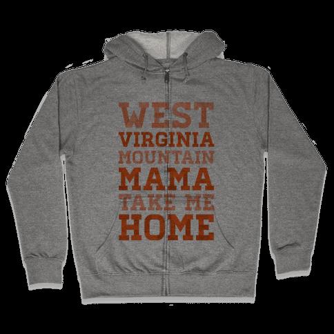 West Virginia, Mountain Mama Zip Hoodie