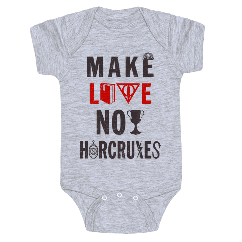 Make Love Not Horcruxes (Vintage Tank Baby Onesy