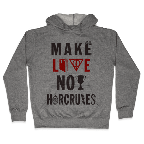 Make Love Not Horcruxes (Vintage Tank Hooded Sweatshirt
