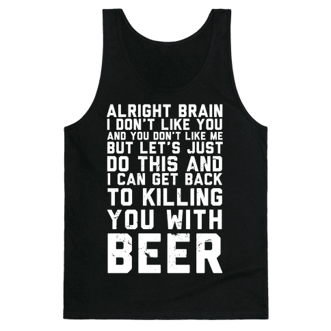 Alright Brain Tank Top