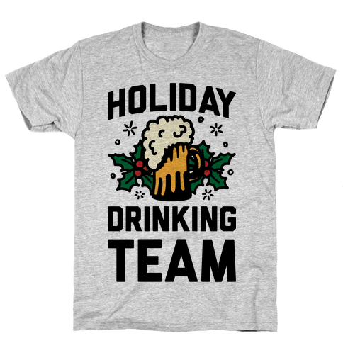 Holiday Drinking Team Mens T-Shirt