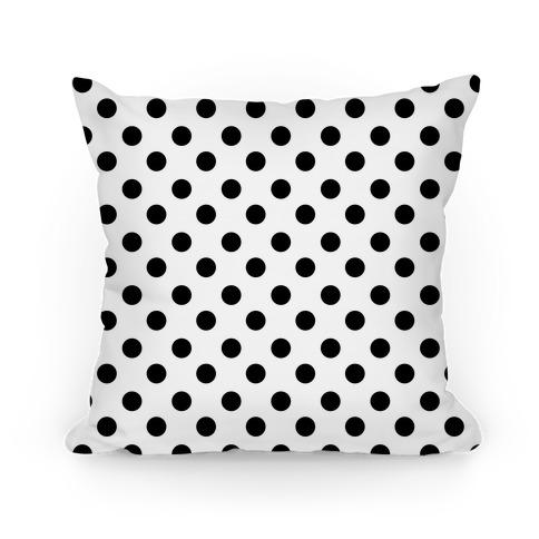 Small Polka Dot Pillow (black and white)