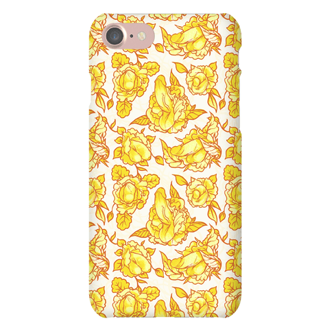 Floral Penis Pattern Yellow Phone Case