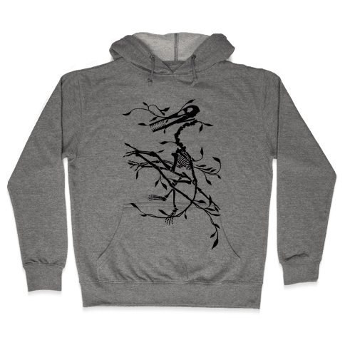 Floral Dinosaur Hooded Sweatshirt