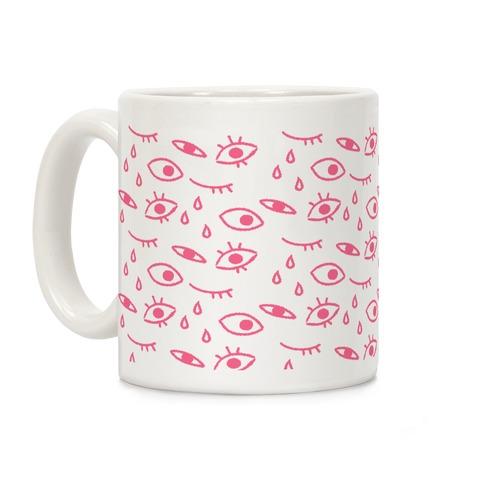 Creepy Eyes (Pink) Coffee Mug