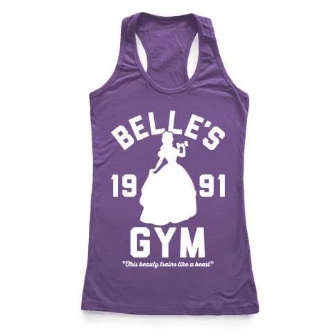 Belle's Gym Racerback Tank Top