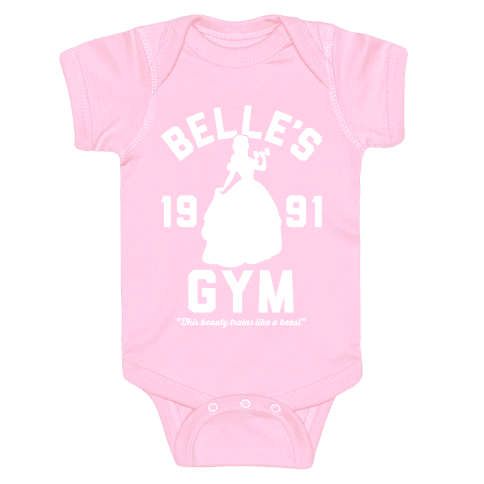 Belle's Gym Baby Onesy