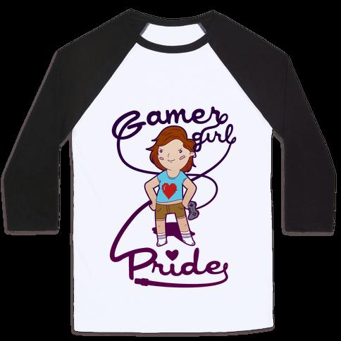 Gamer Girl Pride Baseball Tee