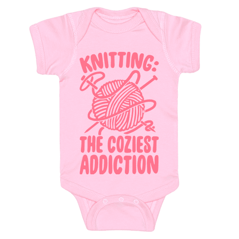 Knitting The Coziest Addiction Baby Onesy