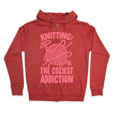 Knitting The Coziest Addiction Zip Hoodie