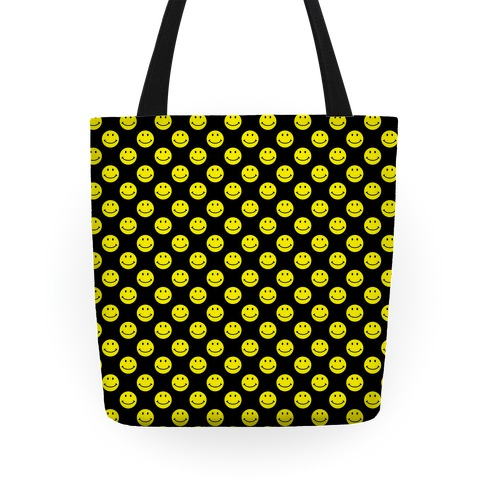 Smiley Face Pattern Tote
