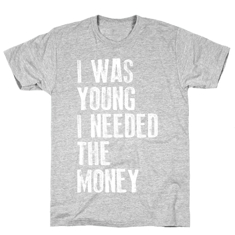 I Was Young (V-Neck) Mens T-Shirt