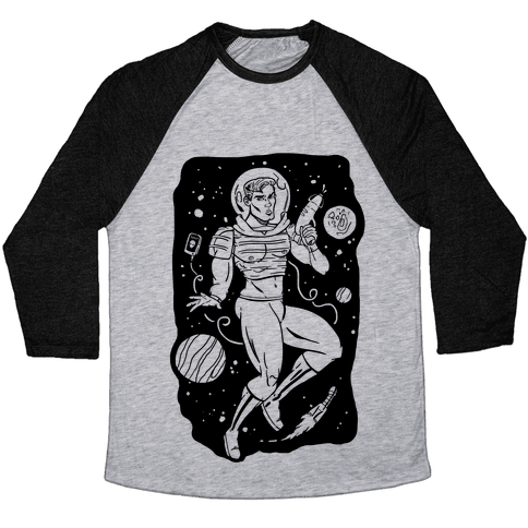 Gaylactic Warrior Baseball Tee