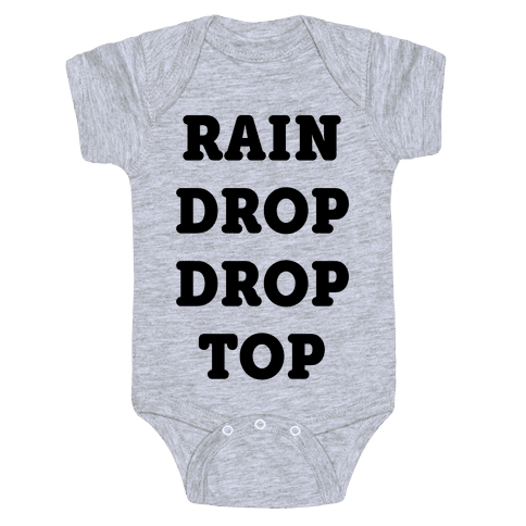 Rain Drop Drop Top Baby Onesy