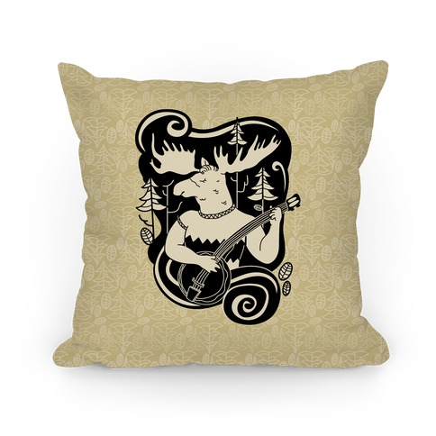 Indie Rock Moose Pillow