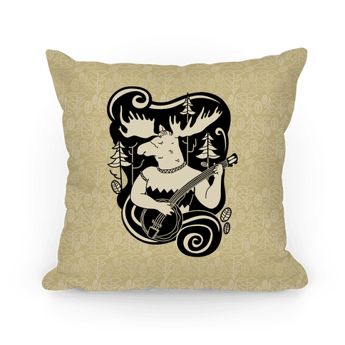 Indie Rock Moose Pillow