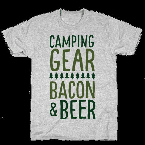 Camping Gear, Bacon, & Beer Mens T-Shirt