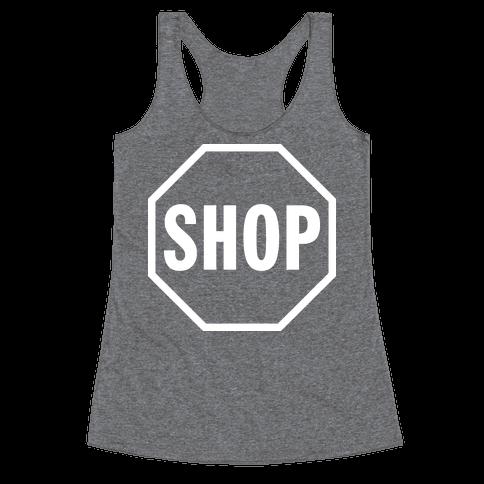Stop And Shop Racerback Tank Top