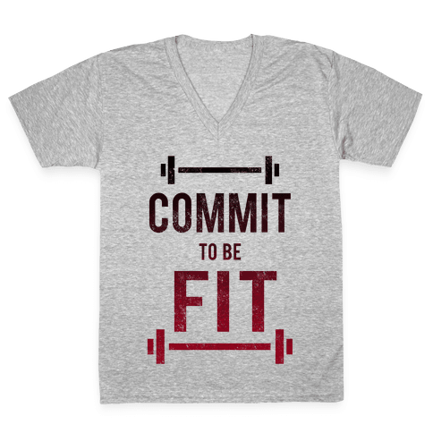 COMMIT to be FIT V-Neck Tee Shirt