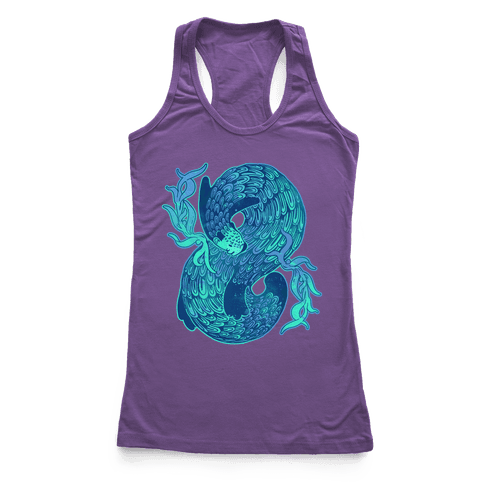 Swirling Wave Otter Racerback Tank Top