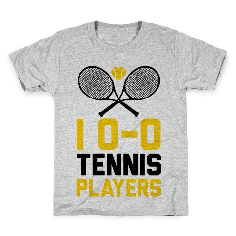 I Love Tennis Players Kids T-Shirt