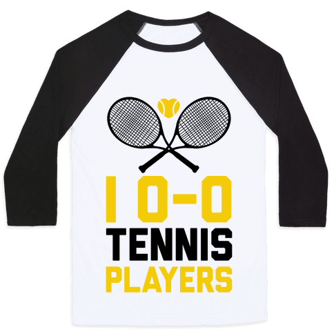 I Love Tennis Players Baseball Tee