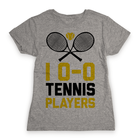 I Love Tennis Players Womens T-Shirt