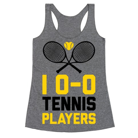 I Love Tennis Players Racerback Tank Top