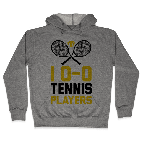 I Love Tennis Players Hooded Sweatshirt