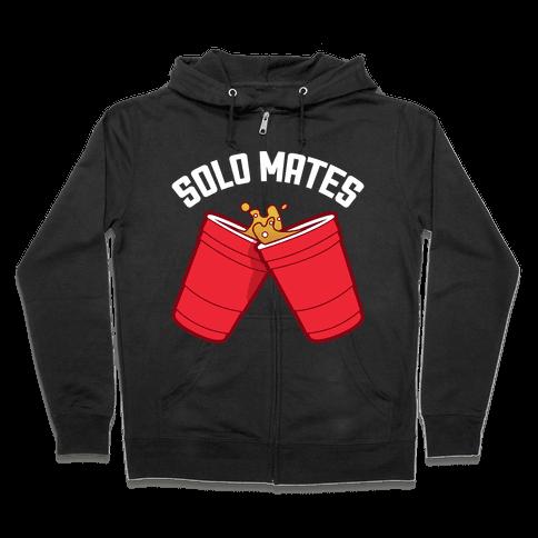 Solo Mates Dark (Red) Zip Hoodie