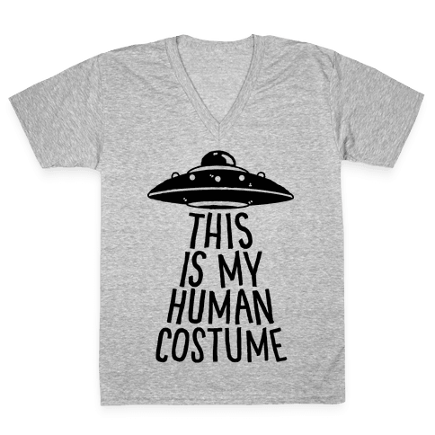 This is My Human Costume V-Neck Tee Shirt