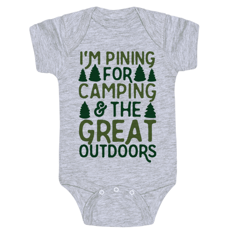 I'm Pining For Camping & The Great Outdoors Baby Onesy