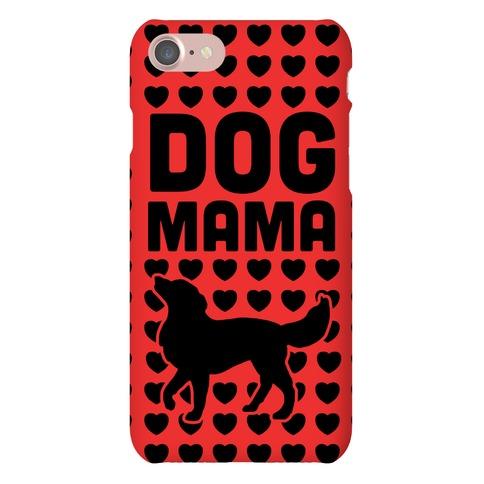Dog Mama (Black & Red) Phone Case