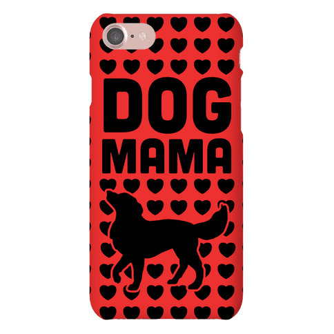 Dog Mama (Black & Red) Phone Case