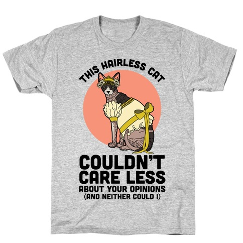 This Hairless Cat Couldn't Care Less T-Shirt