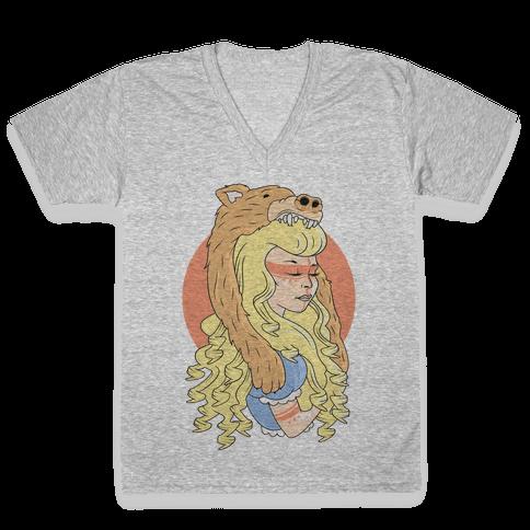 Tribal Goldilocks V-Neck Tee Shirt