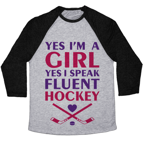 Fluent Hockey Baseball Tee