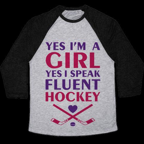 Fluent Hockey Baseball Tee