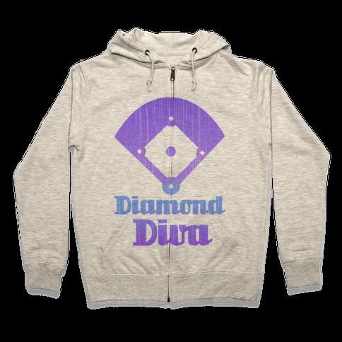 Diamond Diva Zip Hoodie