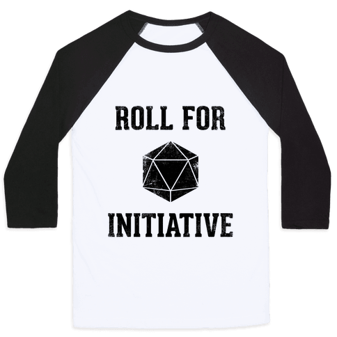 Roll For Initiative (Vintage) Baseball Tee