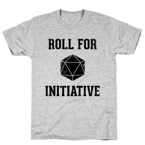 Roll For Initiative (Vintage) Mens T-Shirt