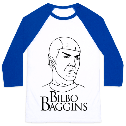 Ballad of Bilbo Baggins (Nimoy) Baseball Tee