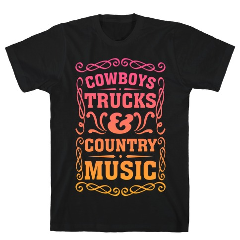 Cowboys Trucks & Country Music T-Shirt