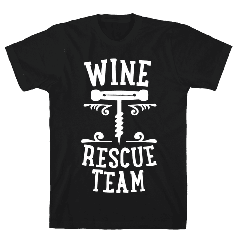 Wine Rescue Team Mens T-Shirt