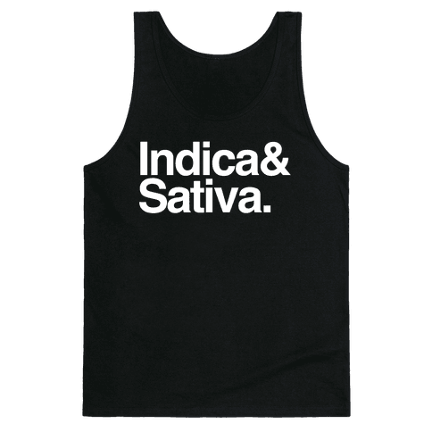 Indica and Sativa Tank Top