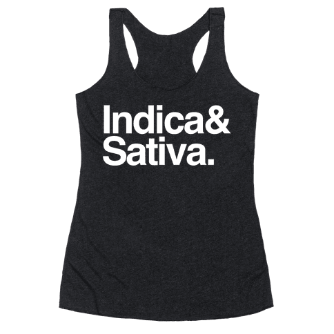 Indica and Sativa Racerback Tank Top