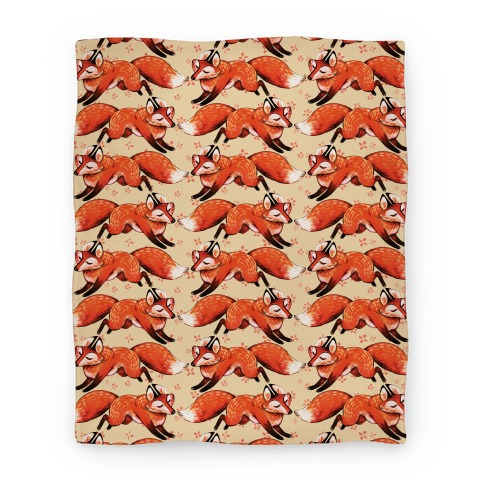 Running Foxes Pattern Blanket