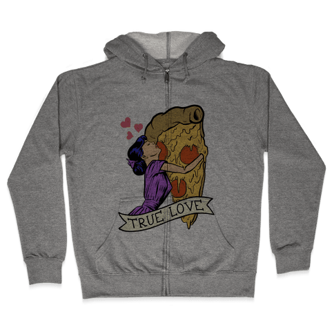 True Love Comics and Pizza Zip Hoodie